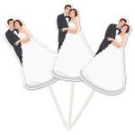 1020001_21020 Prikkers bruid en bruidegom 10 st