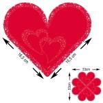 1020020_24455 servetten hart rood 20 stuks
