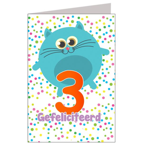 Hiep Hiep Hoera 3 Jaar Feestartikelen Bestellen 3 Jaar Verjaardag