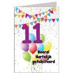 leeftijdkaart Hoera hartelijk gefeliciteerd 11