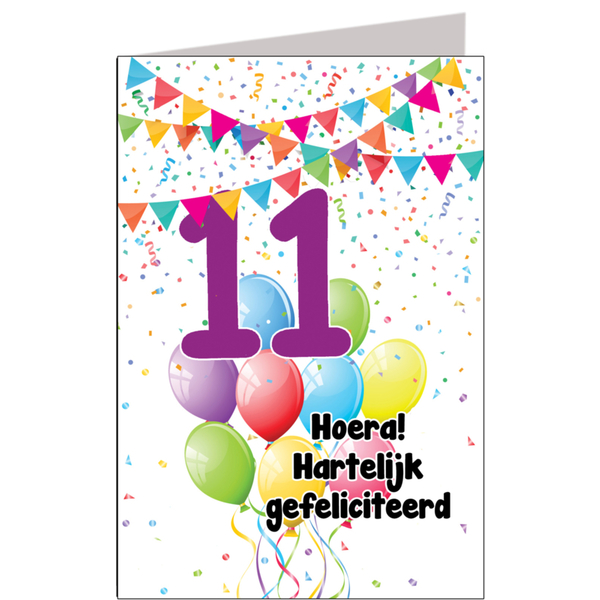 11 jaar gefeliciteerd Hiep hiep hoera 11 jaar   feestartikelen bestellen 11 jaar verjaardag 11 jaar gefeliciteerd
