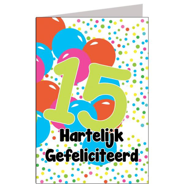 hoera 15 jaar Hiep hiep hoera 15 jaar   feestartikelen bestellen 15 jaar verjaardag hoera 15 jaar