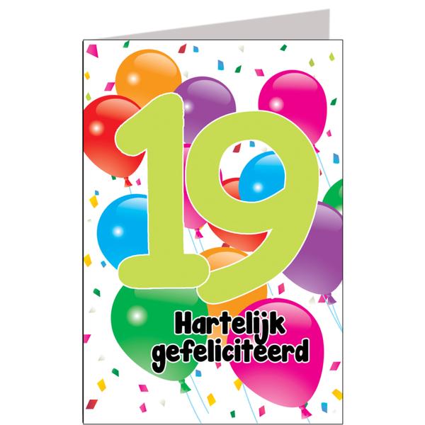 Hiep Hiep Hoera 19 Jaar Feestartikelen Bestellen 19 Jaar Verjaardag