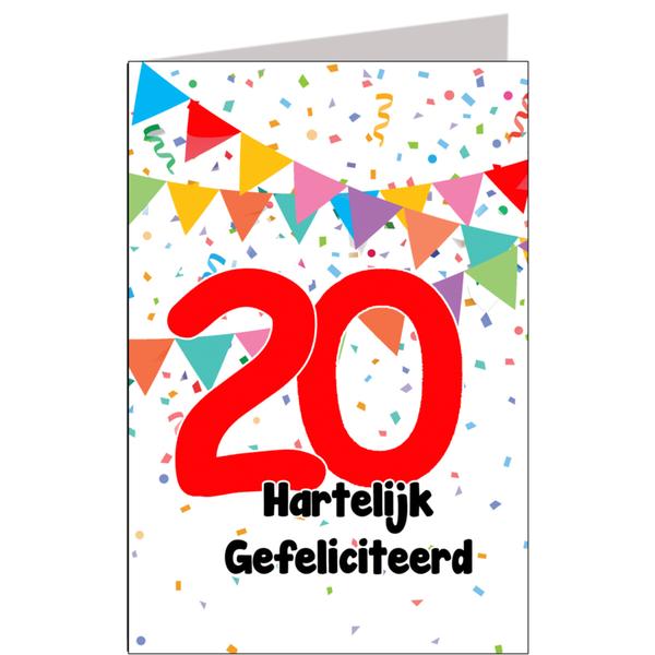 Hiep Hiep Hoera 20 Jaar Feestartikelen Bestellen 20 Jaar Verjaardag