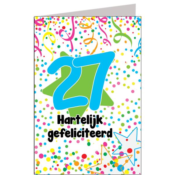 gefeliciteerd 27 jaar Hiep hiep hoera 27 jaar   feestartikelen bestellen 27 jaar verjaardag gefeliciteerd 27 jaar