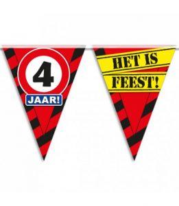 Partyvlaggen 4 jaar