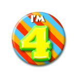 Button I'm 4