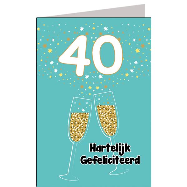 Zeer Hiep hiep hoera 40 jaar man - feestartikelen bestellen 40 jaar &CN36