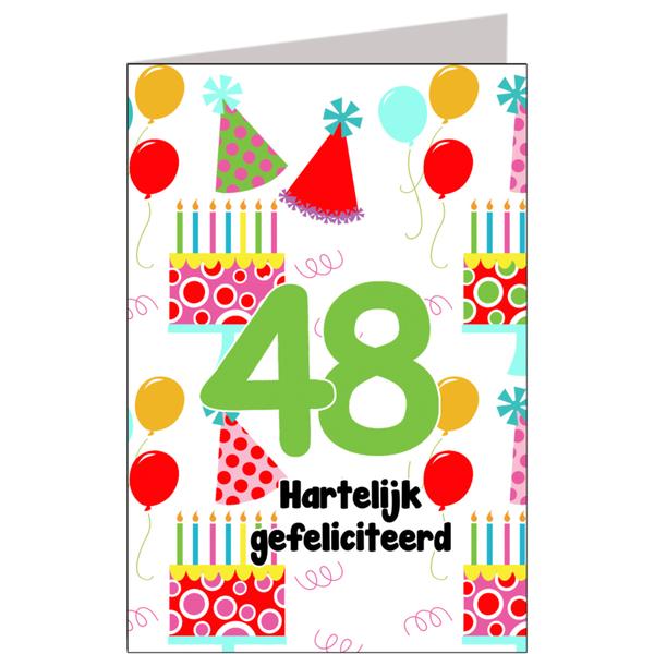 Hiep Hiep Hoera 48 Jaar Feestartikelen Bestellen 48 Jaar Verjaardag