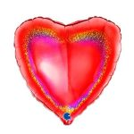 Folieballon Hart glitter rood
