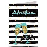 leeftijdkaart Hartelijk gefeliciteerd abraham