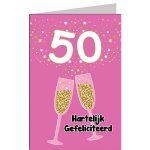 leeftijdkaart Hartelijk gefeliciteerd 50 jaar vrouw