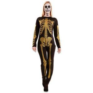Skelet glitter goud