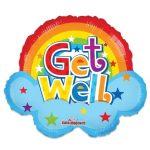Folieballon Get well rainbow