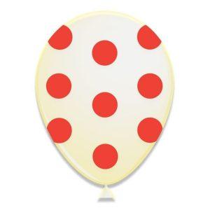 Latex ballonnen met stippen rood