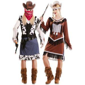 Double fun indiaanse-cowgirl