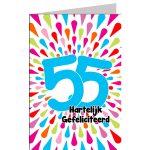 leeftijdkaart Hartelijk gefeliciteerd 55 jaar