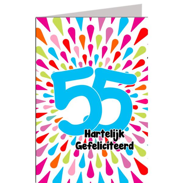 Hiep Hiep Hoera 55 Jaar Feestartikelen Bestellen 55 Jaar Verjaardag