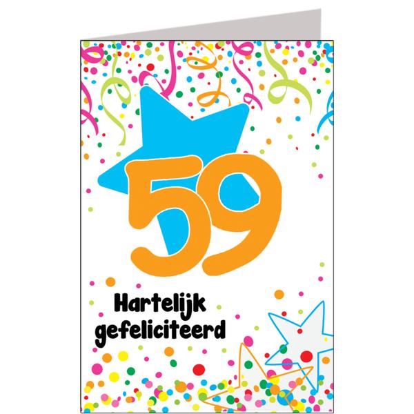 Hiep Hiep Hoera 59 Jaar Feestartikelen Bestellen 59 Jaar Verjaardag