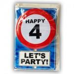 Happy age kaart 4 jaar