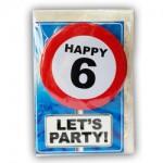 Happy age kaart 6 jaar