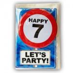 Happy age kaart 7 jaar