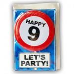 Happy age kaart 9 jaar
