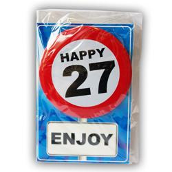 Happy age kaart 27 jaar