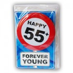 Happy age kaart 55+ jaar Forever young