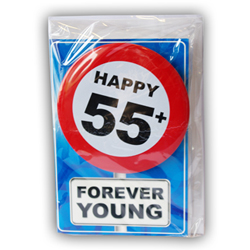 Happy age kaart 55+ jaar Forever young