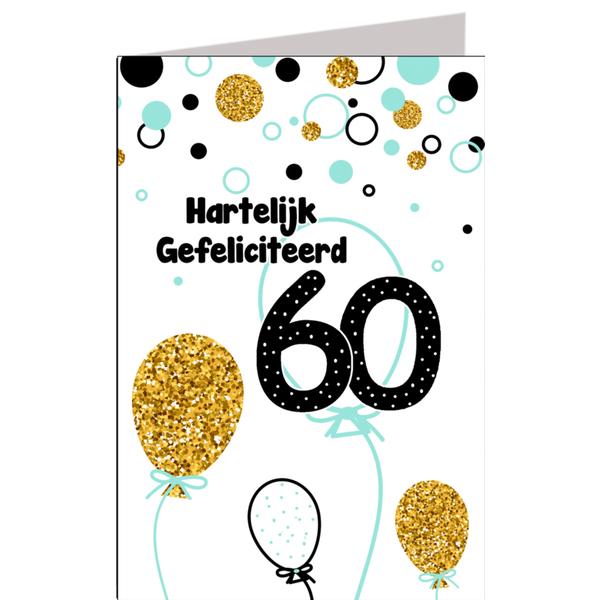 Populair Hiep hiep hoera 60 jaar man - feestartikelen bestellen 60 jaar @CZ11