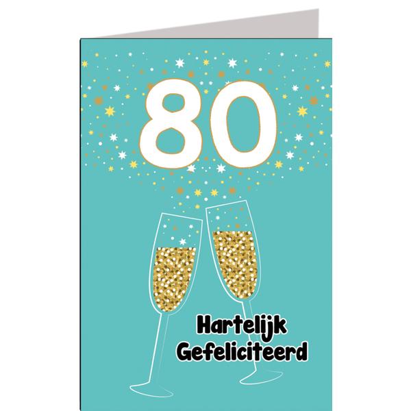 Top Hiep hiep hoera 80 jaar man - feestartikelen bestellen 80 jaar @LN05