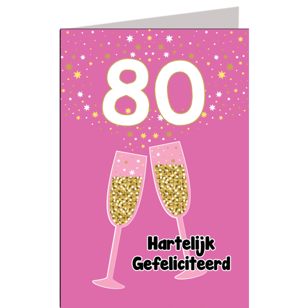 Hiep Hiep Hoera 80 Jaar Vrouw Feestartikelen Bestellen 80 Jaar
