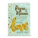 Gift card love ballon Mama en Papa