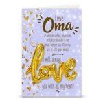 Gift card love ballon Lieve oma