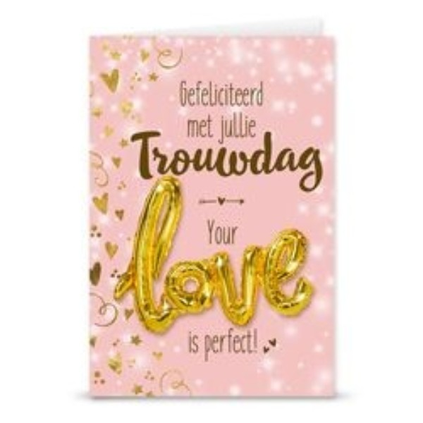 Gift Card Love Ballon Trouwdag