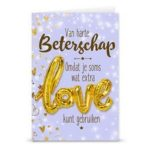 Gift card love ballon Beterschap