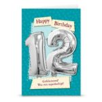 Leeftijd ballon gift card 12