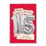 Leeftijd ballon gift card 15