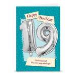 Leeftijd ballon gift card 19