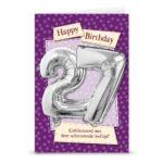 Leeftijd ballon gift card 27