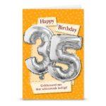 Ballon wenskaart happ birthday 35