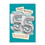 Ballon wenskaart happ birthday 55