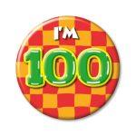 Button I'm 100