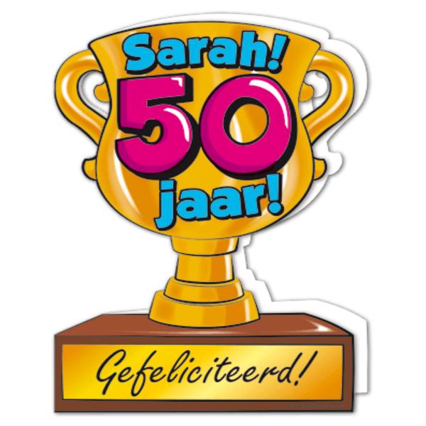 Gefeliciteerd Hoera 50 Jaar Sarah Feestartikelen Bestellen 50 Jaar