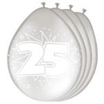 Folatex ballonnen 25 metallic zilver
