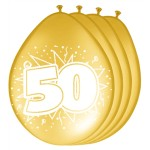 "ballonnen 12"" 50 jaar metallic goud"