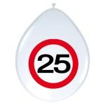 "ballonnen 12"" (30 cm) verkeersbord 25"
