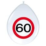 "ballonnen 12"" (30 cm) verkeersbord 60"