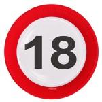 Borden verkeersbord 23 cm 18 jaar